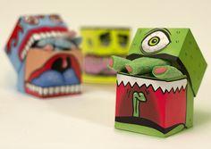 Monsters Candy Package  Voici un drôle de packaging imaginé par la designer Charlotte Olsen. Outre les illustrations de monstres dessinées sur la boîte, c'est une fois ouverte que l'on se rend compte que les bonbons dépassent et rendent ces monstres plus vivants que jamais. Un design ludique à découvrir en trois versions dans la suite.