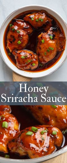 Sweet and spice honey sriracha sauce is perfect with grilled chicken, baked chicken, and chicken wings! Sweet and spice honey sriracha sauce is perfect with grilled chicken, baked chicken, and chicken wings! Chicken Wing Sauces, Grilled Chicken Wings, Chicken Wing Recipes, Grilled Chicken Recipes, Baked Chicken, Grilled Meat, Honey Sriracha Chicken Wings, Grilling Chicken, Chicken Ideas