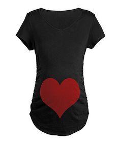 Look at this #zulilyfind! Black Heart Maternity V-Neck Tee by CafePress #zulilyfinds