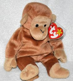 TY Beanie Baby Rare Original #Bongo the #Monkey 1995 Mint Protected Tag Retired  #Ty