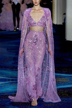 Runway Fashion, Fashion Beauty, Fashion Trends, Purple Master Bedroom, Global Brands, Zuhair Murad, Famous Brands, Choices, March