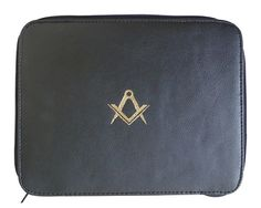 4c0a95085440 Masonic Lodge Freemasons Certificate wallet in Faux leather Printed S and C  in gold