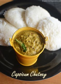 Capsicum Chutney Recipe best sidedish for idli dosa Fried Fish Recipes, Veg Recipes, Spicy Recipes, Indian Food Recipes, Vegetarian Recipes, Cooking Recipes, South Indian Chutney Recipes, Recipies, Gourmet