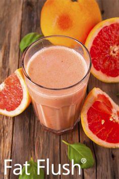 Grapefruit Cherry Smoothie- Official Fat Flush Recipe