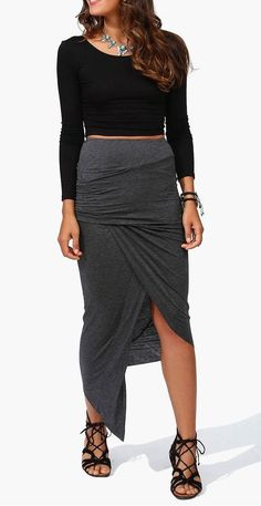 charcoal, fashion, style, skirts, cloth, outfit, beauti, triangl layer, layer skirt