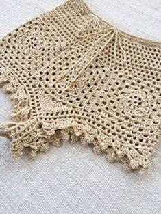 46 Ideas for crochet bikini pattern bottom bathing suits Crochet Bikini Bottoms, Crochet Bikini Pattern, Crochet Shorts, Crochet Clothes, Mode Crochet, Hand Crochet, Knit Crochet, Crochet Crafts, Crochet Projects