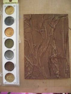 How to:  Faux Leather Texture using Masking Tape - Tutorial