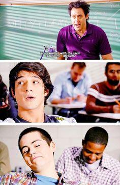 Stiles is so proud of himself.