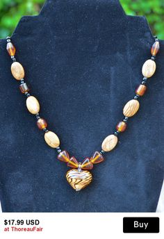 Wild At Heart - Jasper and Glass Necklace