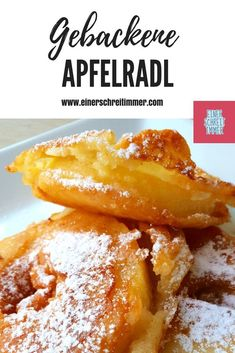 Apfelräder nach Uromas Rezept How do you say? Apple in puff pastry? Or baked apple slices? Or Apfelradl? No matter! This sensational dessert is meant for all children and adults. Because: It is easy to make and tastes wonderful. Apple Desserts, Apple Recipes, Baking Recipes, Pancake Healthy, Best Pancake Recipe, Baked Apple Slices, Baked Apples, Homemade Pancakes, Pancakes Easy