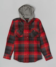 Look what I found on #zulily! Valiant Red Plaid Button-Up - Boys #zulilyfinds