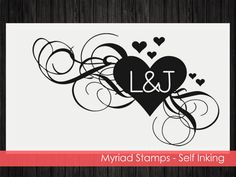 Heart Self Inking Stamp  Custom Address by LittlePrintsStamps
