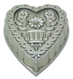 Nordic Ware Decorated Heart Baking Pan | Cookie Cutters Plus