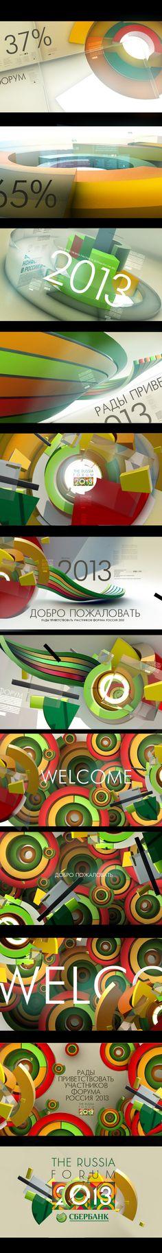 motion graphics/ storyboards/ styleframes | SBER_FORUM_2013 by Egor Antonov