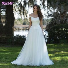 Find More Wedding Dresses Information about Off the Shoulder White Aline Wedding Dresses Bridal Gowns Boat Neck Lace Tulle Zipper Back Buttons Court Train Customized,High Quality lace fingerless gloves pattern,China train brooch Suppliers, Cheap lace short wedding dress from Suzhou YQLAN Wedding & Prom Ltd. Store on Aliexpress.com