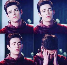 Grant Gustin aka The Flash aka Barry Allen // We've all had those days though!!!!