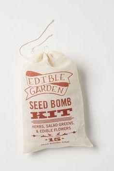 Garden Seed Bomb Kit: Herbs, Salad Greens & Edible Flowers