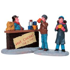 Lemax Village Collection Set Of 2, Christmas Village Figurine, Hot Chocolate Stand - Seasonal - Christmas - Villages & Collectibles  $6.99  2013
