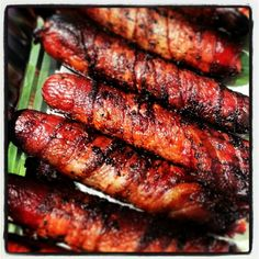 Bacon Wrapped Grilled Hot Dogs.  Ultimate Tailgate Food
