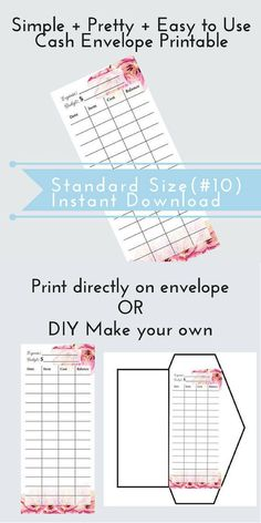 Envelope Budgeting System Free Printable Envelopes  Envelope