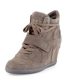 Bowie+Suede+Wedge+Sneaker,+Slate+by+Ash+at+Neiman+Marcus.