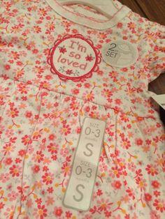 Baby Rene Rofe 2 Piece Size 0 3 Month I Am So Loved Pink Girl Bodysuit Onsie | eBay
