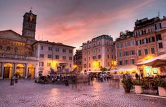 A perfect day in Trastevere  - Nightlife in Trastevere, Rome, Italy. Tim E White / Photolibrary /Getty