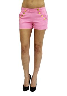 Pretty Girl - Gold Button Pink Shorts, $16.99 (http://www.shopprettygirl.com/gold-button-pink-shorts)