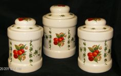 Cherry Canister Set