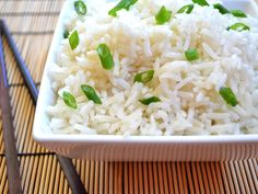 coconut rice.