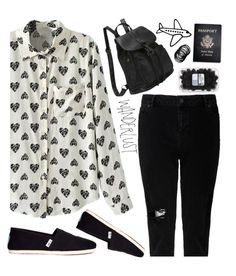 """""""Pack and Go: Mexico City"""" by kels-x ❤ liked on Polyvore featuring Passport, TOMS and Packandgo"""