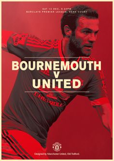 It's Bournemouth v #mufc for the first time in the league, today at 17:30 GMT. Come on!
