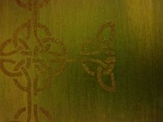 Journal cover painted with Silks Acrylic Glaze. Celtic cross Ferro Special Effects Paste.