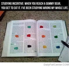 You've been doing it wrong. Katie tribble should try this. Best med student ever.