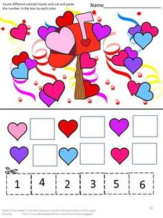 In this bundled set, you will receive the following 5 Valentine products;  Valentine's Day Cut and Paste-22 pages Valentine's Day Cut and Paste Puzzle-32 pages Valentine's Day Counting Fun-16 pages Valentine's Day Count and Clip-20 cards February Unit Printable File Folder Games-28  WOW! That is over 115 pages of fun activities for your students. AND, you will love the savings at over 20% off!