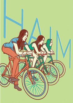 Haim Poster by ElectricBugle on Etsy, £20.00