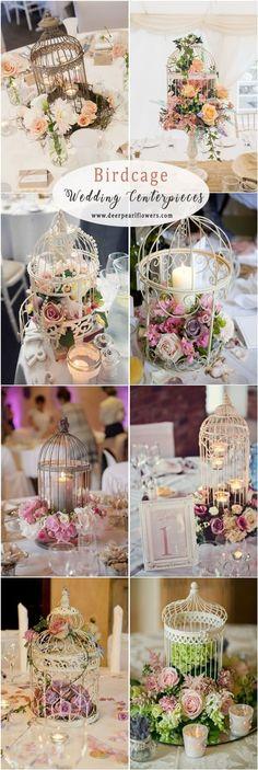 birdcage wedding centerpiece ideas for vintage wedding #weddings #centerpieces #vintageweddings #weddingideas #deerpearlflowers #dpf ❤️ http://www.deerpearlflowers.com/vintage-wedding-centerpiece-ideas/