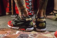 First Look: LimitEDitions X Diadora N9000 'Correfocs' - Sneaker Freaker Fiery Red, Shoe Organizer, Me Too Shoes, Celebrities, Sneakers, Leather, Fashion, Tennis, Moda