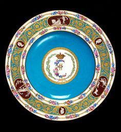 Dessert plate of Catherine the Great, France, Sèvres, 1778. Museum no. 449-1921
