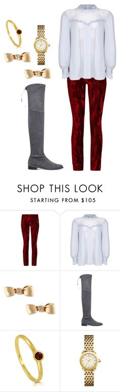 """""""Untitled #626"""" by twisted-magic ❤ liked on Polyvore featuring Haider Ackermann, Ghost, Mimi So, Stuart Weitzman, BERRICLE and Tory Burch"""