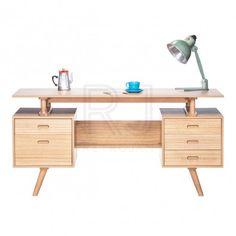 Josephine Scandinavian Style Furniture Office Desk - Natural