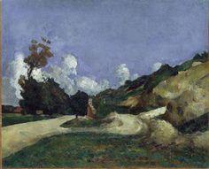 """Paul Cézanne - """"La route"""" Huile sur toile x Paul Gauguin, Monet, Canvas Art Prints, Oil On Canvas, Paul Cezanne Paintings, Road Painting, Camille Pissarro, Aix En Provence, Oil Painting Reproductions"""