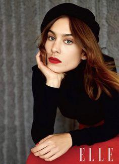Alexa Chung Goes Parisian Cool For Elle China via @WhoWhatWear