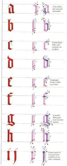 calligrafie - ASDPS ARMIS ET LEO Calligraphy Tutorial, How To Write Calligraphy, Calligraphy Handwriting, Lettering Tutorial, Calligraphy Letters, Caligraphy, Penmanship, Gothic Lettering, Hand Lettering Fonts