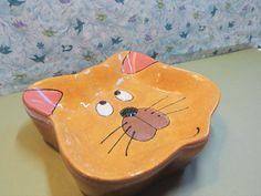 Ceramic Cat Bowl Cat Dish by BeautifullyPractical on Etsy, $32.00 . #cat bowl, #cat dish, #ceramics Cat Bowl, Cat Stuff, I Love Cats, Pet Supplies, Bowls, Cups, Kitty, Ceramics, Dishes