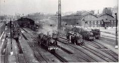 Locomotives à vapeur aux Batignolles