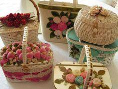 Como decorar cestos de palha