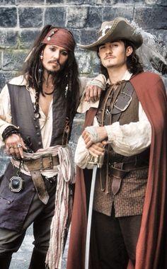 CAPTAIN JACK SPARROW & WILL TURNER pirate costume full men's.