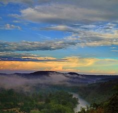 Misty sunset - White River at Eureka Springs - photo by Michael Buffington for Capture Arkansas