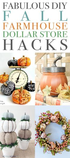 Fabulous DIY Fall Farmhouse Dollar Store Hacks - The Cottage Market